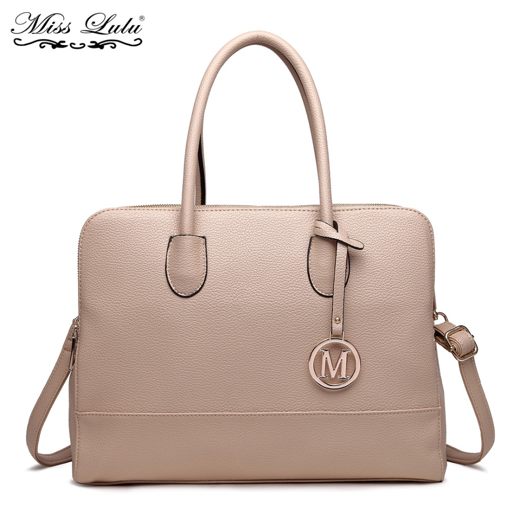 Miss Lulu Brand Women Laptop Handbag Female Leather Shoulder Bag Ladies  Fashion Large Tote Cross Body 9b4eb891d00b6