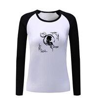 2017 Punk Constellation Virgo Sagittarius Pisces Tribal Design Full Sleeve T Shirt Women Lady Girl T