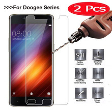 2PCS Tempered Glass For Doogee BL12000 BL9000 BL7000 X30 X50 X53 X55 S30 S60 for HOMTOM HT37 HT16 S7 S16 Screen Protector Film