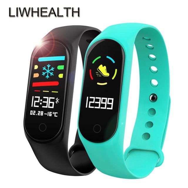 ed73a5ddf99 Cor Tempo L3 Bluetooth Inteligente Relógio HR BP SPO2 Fitness Saúde  Smartwatch Montre Ligar Para IOS Xiaomi  Huawei PK Pebblea 3