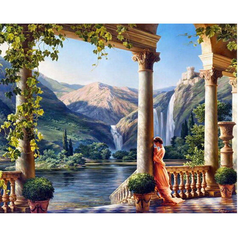 Needlework Wall Arts Full 3d Diy Diamond Painting Cross Stitch Decoration Landscapes Picture Diamond embroidery Square Drill