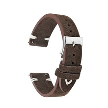 Watchband Soft Suede Leather Vintage Strap Replacement for Men Women Watch Band Coffee 18mm 20mm 22mm 24mm KZSD10