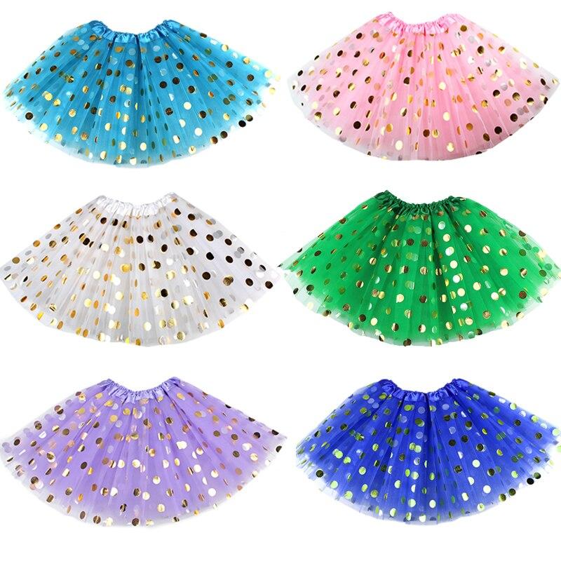 3 Schichten Rosa Gold Dot Baby Tutu Rock Kinder Sparkle Rock Kinder Kleidung Der Mädchen Prinzessin Pettiskirts Geburtstag Party Röcke Aromatischer Geschmack Röcke