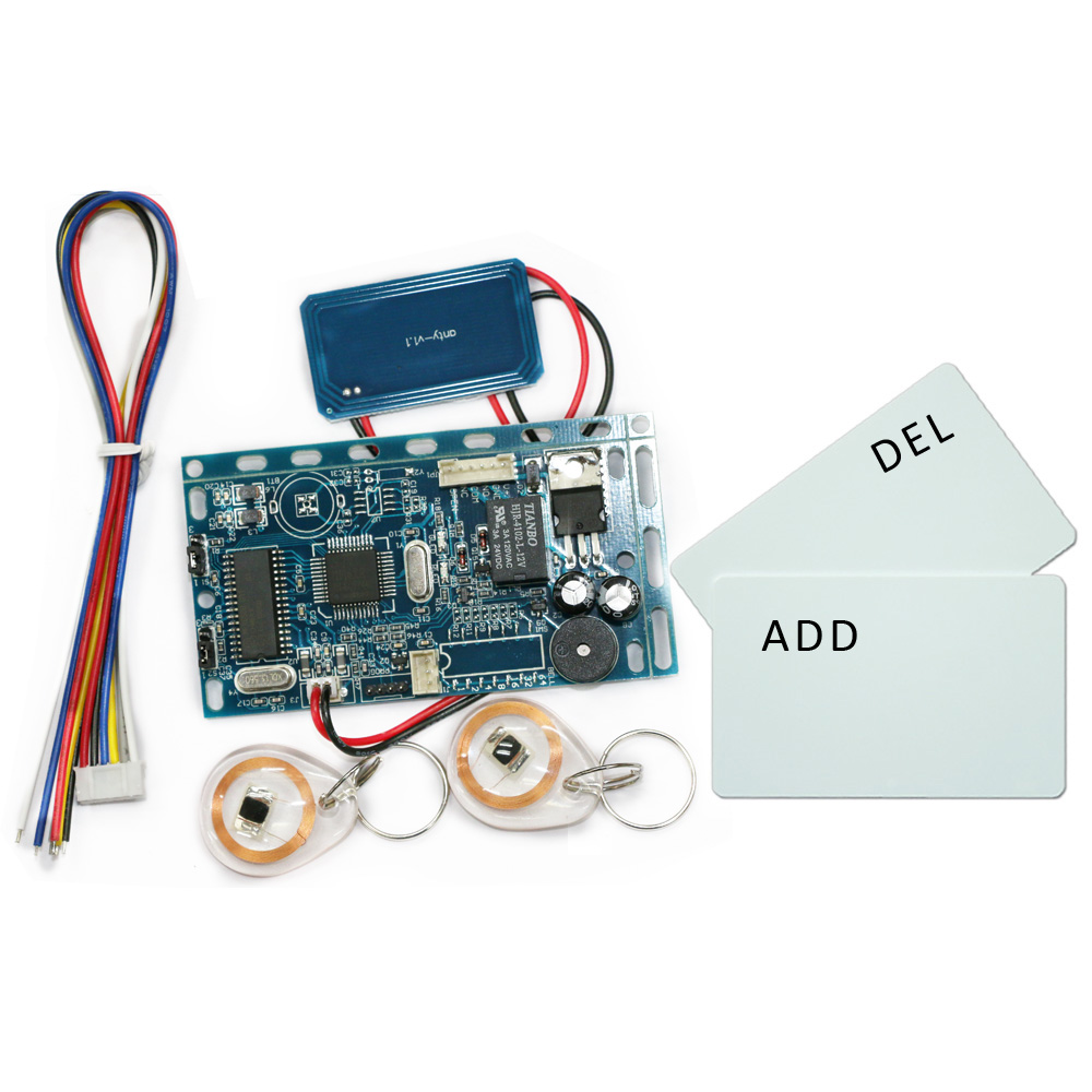 Free shipping 13.56MHZ frequency  Embedded RFID board Door Access Control System  module for  intercom +10 crystal  and 2 cards design and development of an embedded system for ad dc power control