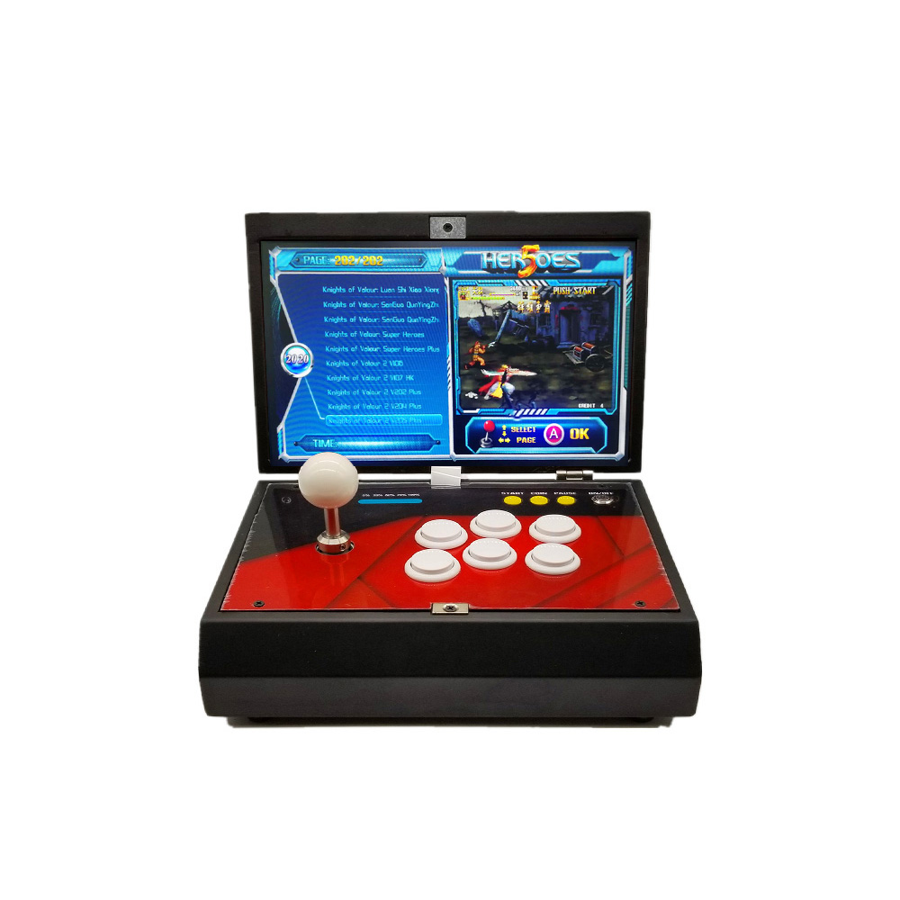 Hero strom Pandora 10 Inch LCD 1388 in 1 Mini Arcade Console Zero Delay Joystick Buttons PCB Board Retro Video Arcade Machine