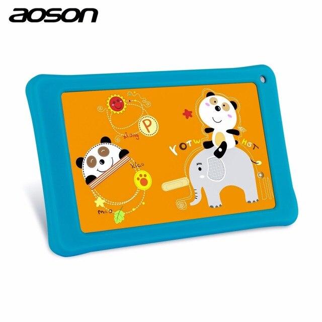Бренд AOSON 7 дюймов Детский рисунок таблетки шт 8 ГБ + 1 ГБ M751 Android IPS Quad Core Образования Tablet WI-FI babypad игрушка для детей