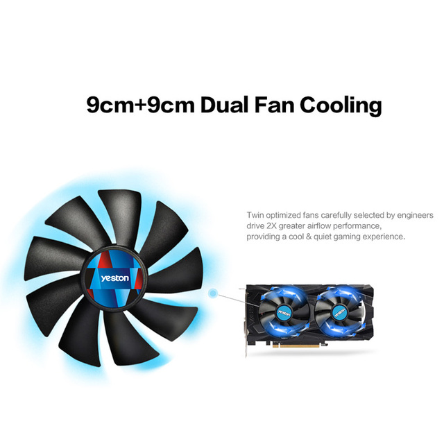 Yeston Radeon RX 560D GPU 4GB GDDR5 128 bit Gaming Desktop computer PC Video Graphics Cards support DVI/HDMI 4