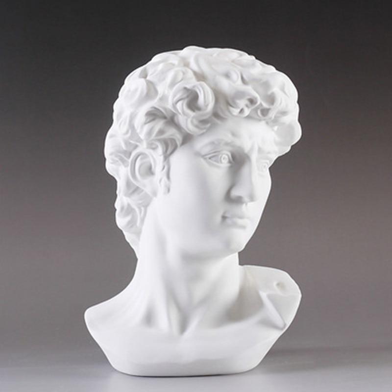 David Head Portraits Bust Statue Michelangelo Buonarroti Resin Craftwork Office Hotel Living Room Decoration Gift L1239