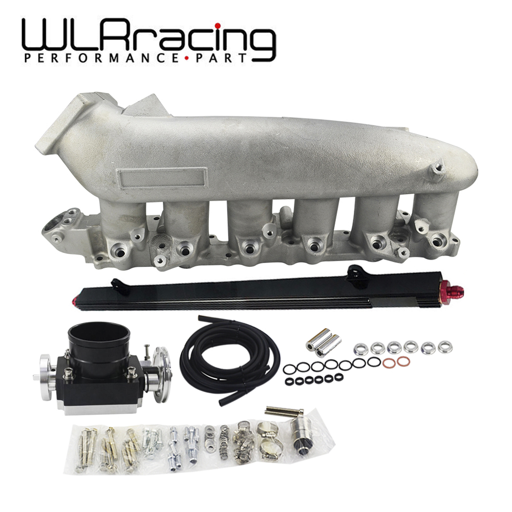 WLR RACING - Cast <font><b>Intake</b></font> <font><b>Manifold</b></font> FOR Nissan 240SX <font><b>RB25det</b></font> RB25 Skyline + 80MM Throttle Body + Fuel Rail WLR-IM32-SL+6980+5439 image