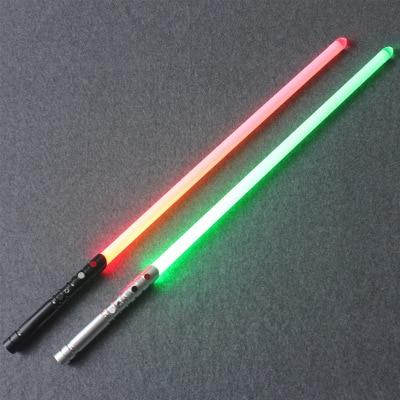 Sabre laser RGB Jedi Sith Luke jouet son noir série Skywalker sabre laser Rechargeable couleur changeante son métal poignée épée