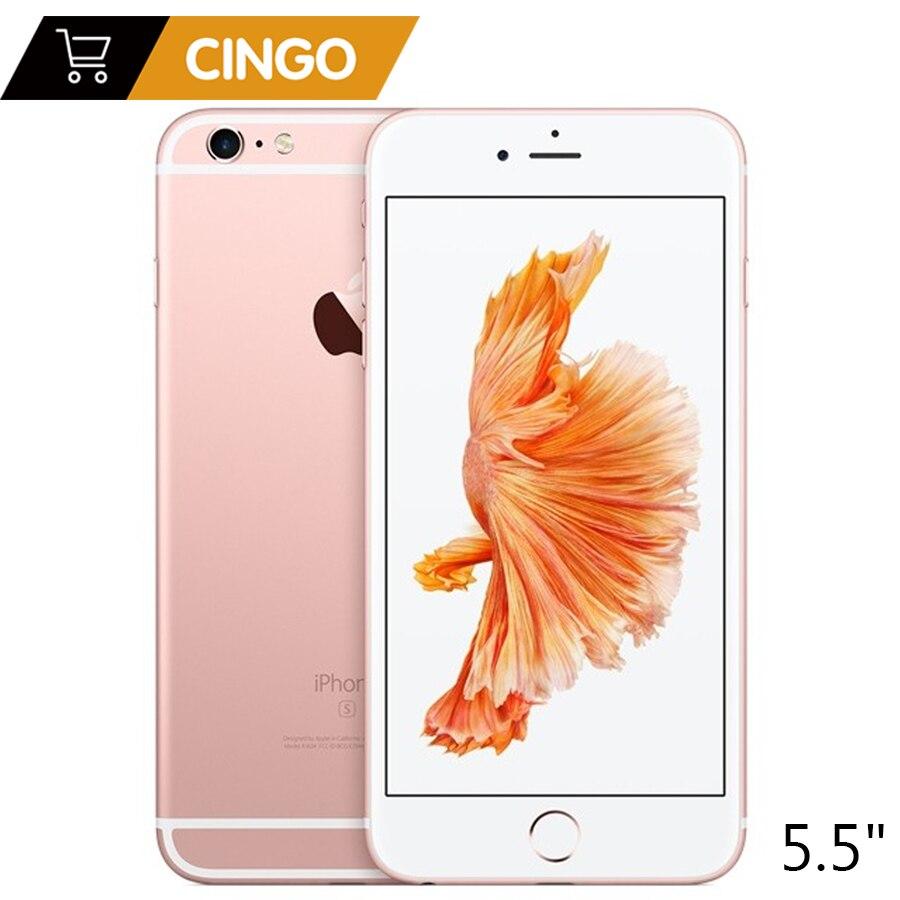 Apple iPhone 6 S Plus iOS Двухъядерный 2 Гб ОЗУ 16/64/128 Гб ПЗУ 5,5 12.0MP камера LTE отпечаток пальца разблокированный мобильный телефон iPhone 6 S