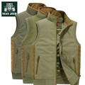 Nian AFS JEEP Fleece Inside Winter/Autumn Cotton Cargo Vest,High Quality Casual  Patchwork Stand collar Sleeve Cotton vests