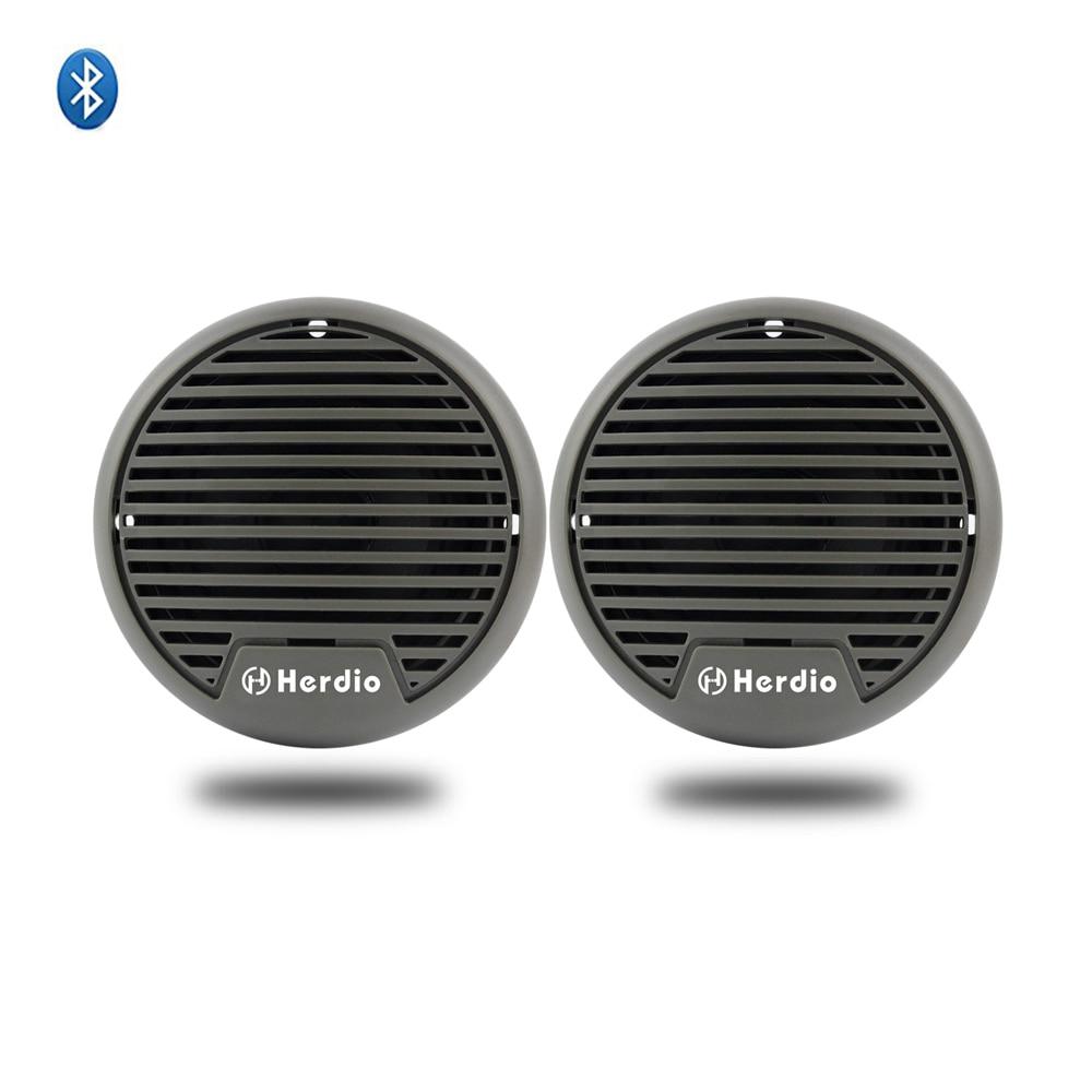 Herdio Marine Waterproof Bluetooth Speakers Outdoor Motorcycle Boat Speaker For SPA ATV UTV Tractor Bathroom Surface