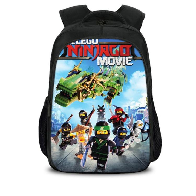 New 3D Lego Bookbag For Teens Back To School Bag Hot Movie Lego Ninjago Printing Mochila Student Travel Backpacks Bagpack