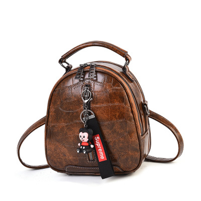 2019 Mini Backpack Women Korean Style Pu Leather Shoulder Bag For Girls Multi Function Small Bagpack Female Phone Pouch