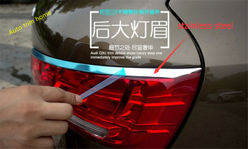 Lapetus Rear Taillight Lamp Eyebrow Cover And Chrome Rear Window Trims Spoiler Side Cover Trim Fit For Audi Q3 2013 2014 2015