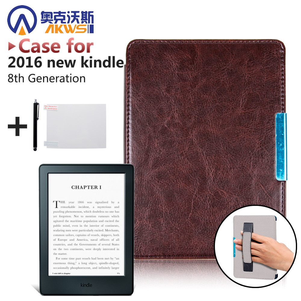 Premium high quality PU leather cover case smart folio cover for 2016 All-New Kindle (8th Generation 2016)ereader cover case 1pc high quality pu leather russian driver s license cover for car driving documents the cover of the passport bih002 pr49