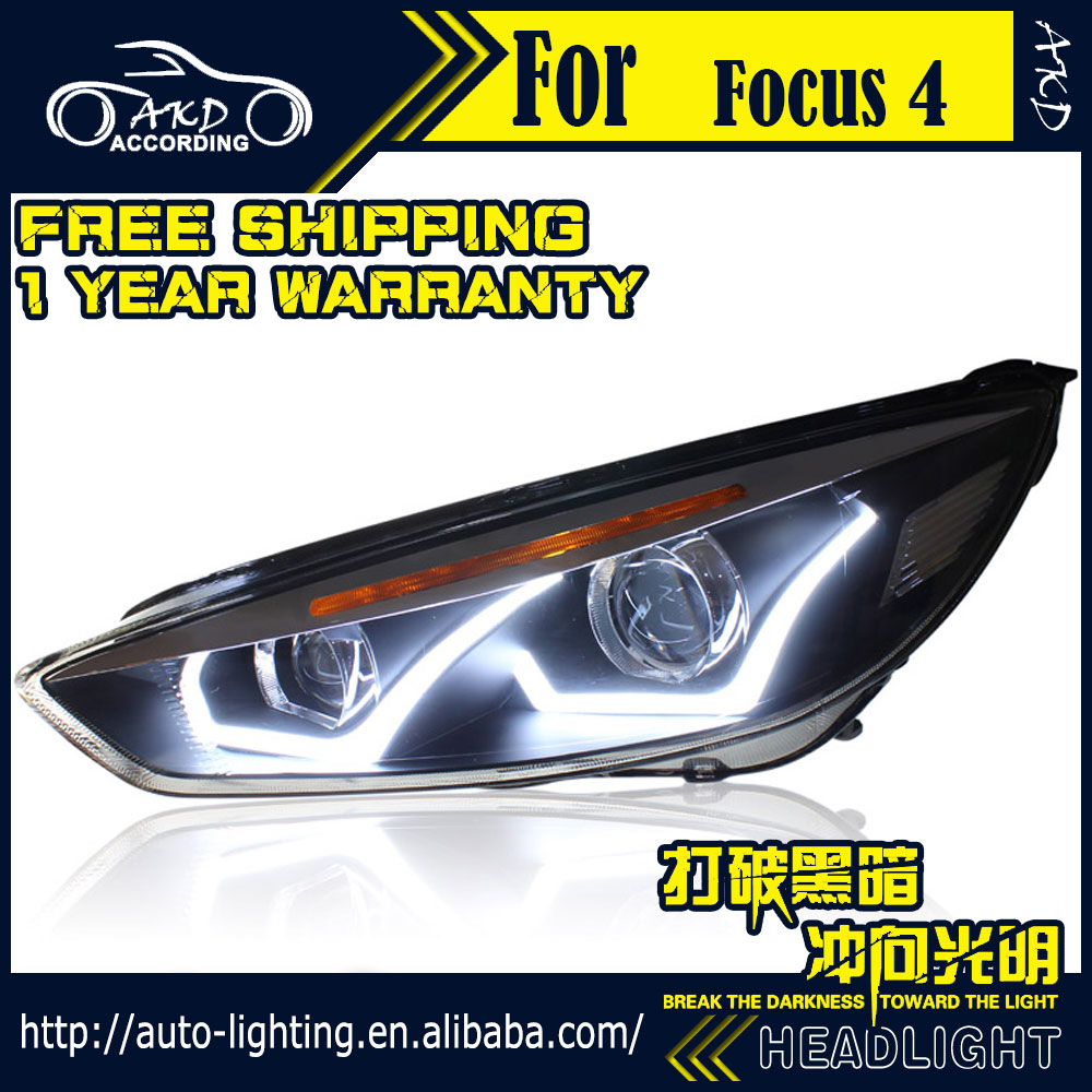 car styling head lamp for ford focus headlights 2015 new focus led headlight drl daytime running