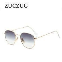2197d1d88109ff ZUCZUG Polygone Cadre En Métal lunettes de Soleil Carrées Femmes Classique  Vintage Pilote Lunettes de Soleil Brand Design Gradie.