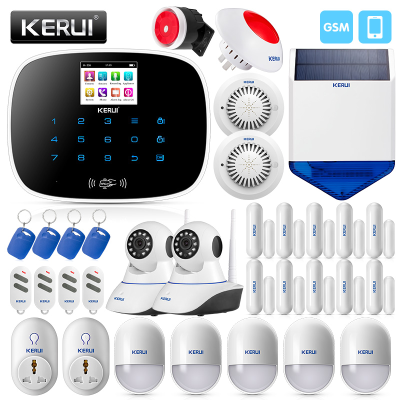 Alarm System Kits Security & Protection Kerui 8218g Dual-network Gsm Pstn Home Alarm Security System High Performance Cpu With Anti-pet Motion Smoke Sensor Door Magnet