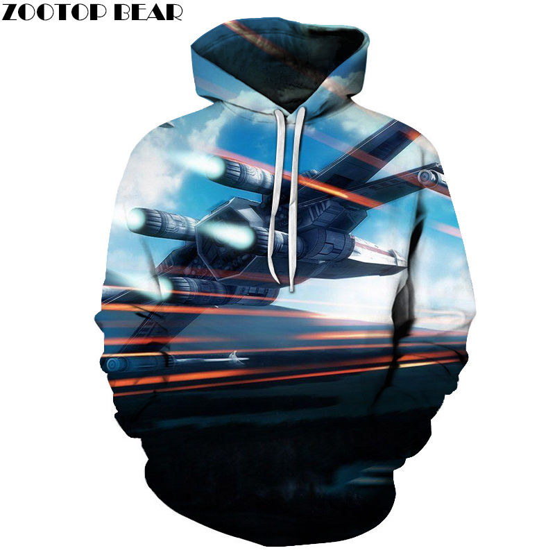 Fighter Long Sleeve 3D Hoodies Cotton Tops Brand Sweatshirts Male Star Wars Men Spring Casual Tracksuits Drop Ship ZOOTOP BEAR