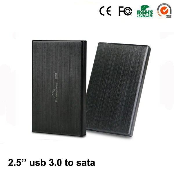 2 unids/lote cajas De Aluminio USB 3.0 micro-mini juego hdd disco duro ssd de 2.5 ''pulgadas sata de hasta 1 TB soporte 7mm 9.5mm Del Ordenador Portátil hdd casos U23T