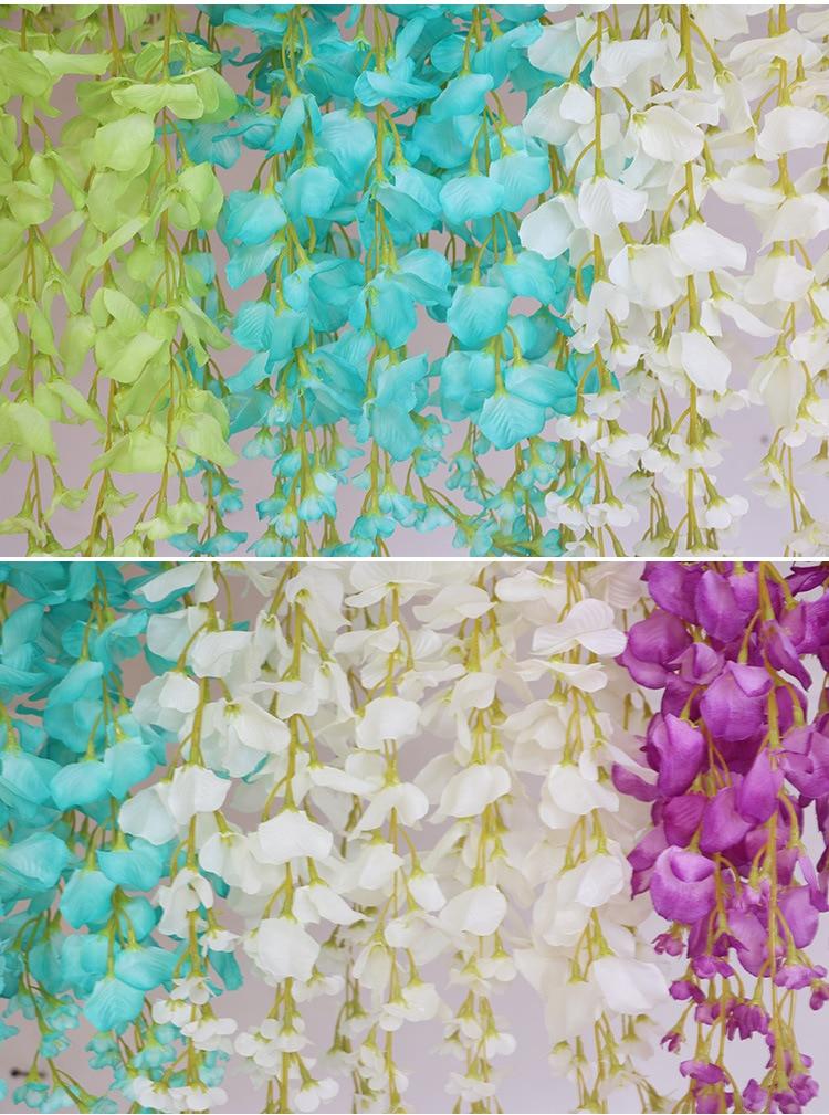 wisteria umjetno cvijeće vjenčanje festival festival dekor cvijeća - Za blagdane i zabave - Foto 5