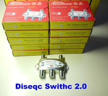 Super max DS 40 de alta qualidade 4 em 1 diseqc switch satélites fta tv lnb interruptor para receptor satélite