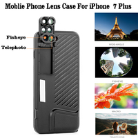 High Quality Wide Angle Lens Phone Case For Apple IPhone 7 Plus Cover Distinctive Fisheye