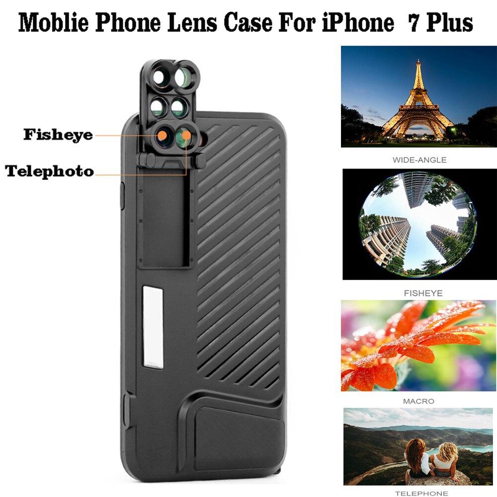 imágenes para Para el iphone de Apple 7 Plus Teléfono Dual Teléfono con Cámara de Lente Lente de La Cámara con la Caja de Protección Para Apple iPhone 7 Plus
