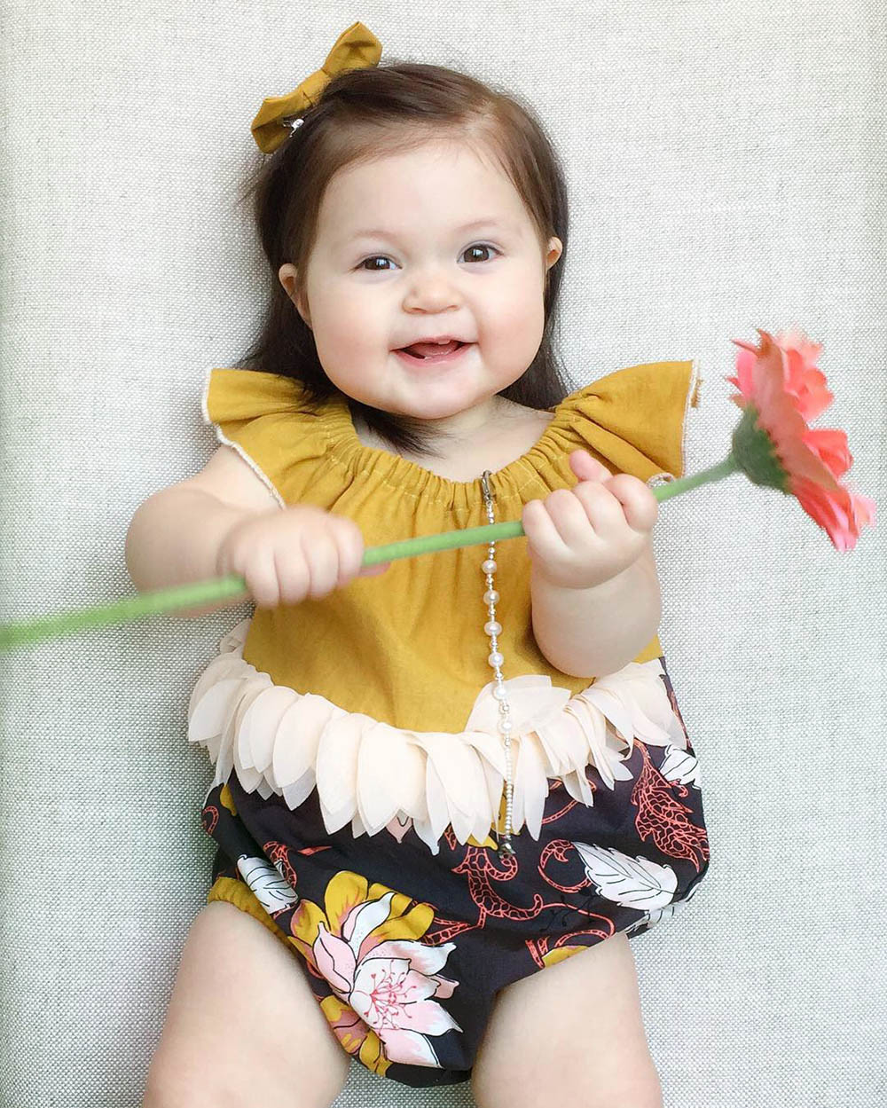 Newborn Girl Summer clothes sets hot sale Print O-Neck Sleeveless Yellow T-Shirt+newest Ruffles Shorts Outfits Clothes Sets