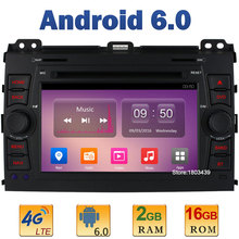 7″ Quad Core 2GB RAM 4G LTE SIM WIFI Android 6.0 Car DVD Player Radio Stereo For Toyota Land Cruiser Prado 120 2002-2009 AUX USB