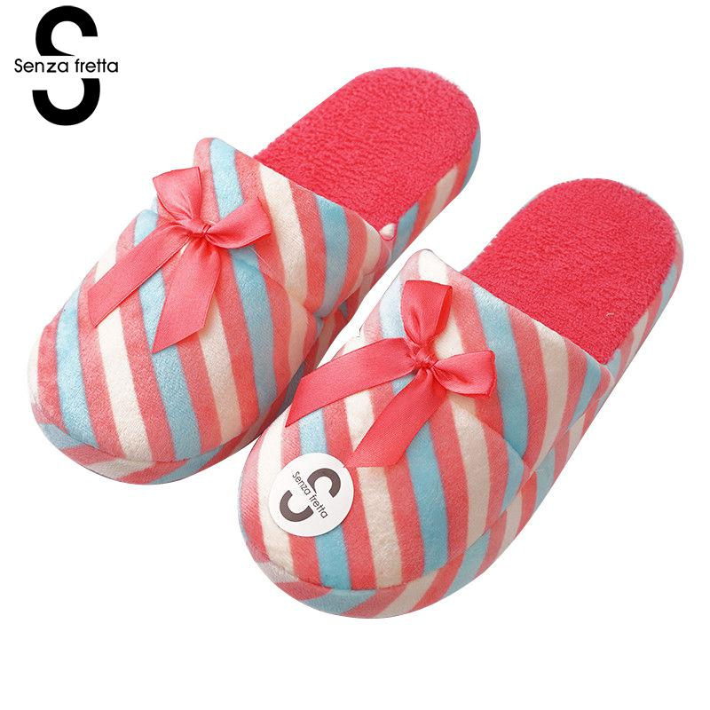 Senza Fretta Winter Lovers Cotton Warm Slippers Indoor Non-slip Soft Bottom Cute Slippers Soft Warm Plush Slippers Women Shoes women s winter furry slippers home non slip soft couples cotton thick bottom indoor warm rubber clogs woman shoes