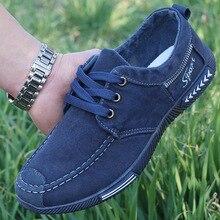 дешево!  Холст Мужская Обувь на Шнуровке Мужчины Повседневная Обувь Новые Плимсоллы Дышащая Мужская Обувь