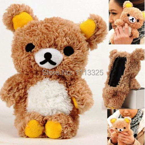 Cute 3D Teddy Bear Doll Toy Plush Case Cover SAMSUNG GALAXY S5 ACTIVE G870 - facom store