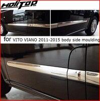Для старых VITO и VIANO 2011 2015 тела Сторона Литье Дверь под давлением, кузова, накладка, 304 нержавеющая сталь, гарантия высокого качества