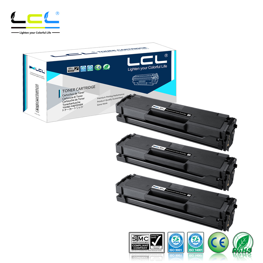 LCL  MLT-D101S MLT D101S (3-Pack Black) Toner Cartridge Compatible for Samsung ML2160/2160W/2165/2165W/2168W mlt 105s 105s 105 black toner cartridge compatible for samsung ml 1910 ml 1910k ml 1915 ml 1915k ml 1916k ml 2525 ml 2525k