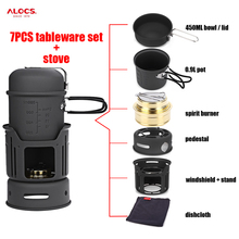 ALOCS 7pcs Outdoor Cooking Stove Set