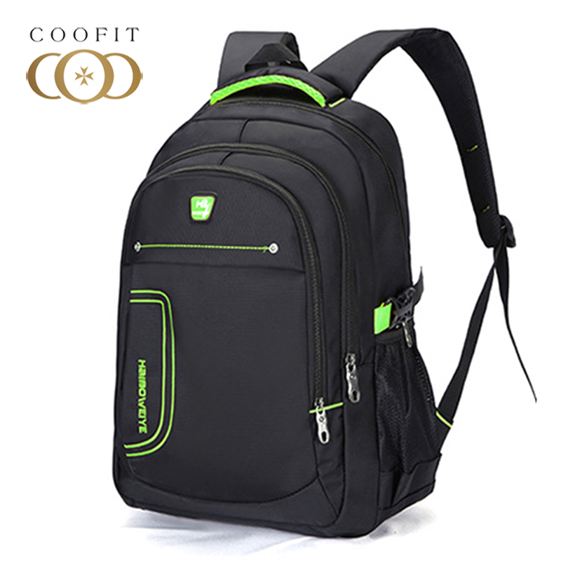 Coofit Nylon 14 Inch Laptop Backpack For Men Mochila Masculina Man's Backpacks Men's Luggage & Travel bags Large Casual Bagpacks baijiawei men and women laptop backpack mochila masculina 15 inch backpacks luggage