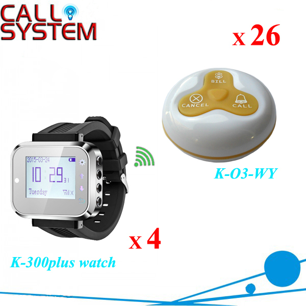 Wireless waiter call button system chinese restaurant equipment wireless waiter call system top sales restaurant service 433 92mhz service bell for a restaurant ce 1 watch 10 call button