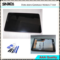 Sinbeda AAAA Quality LCD For Asus Google Nexus 7 1st ME370 2012 LCD Display + Touch Screen Digitizer Glass With Frame Assembly