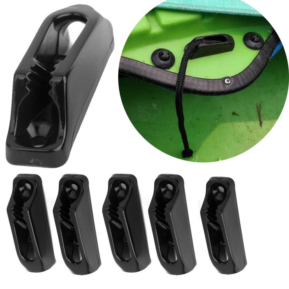 6PC Canoe Kayak Cord Lock Rudder Skeg Control Cordlock Nylon Self-lock Rope Cord Tensioner Runner Anchor Jam Cleat 6PCs