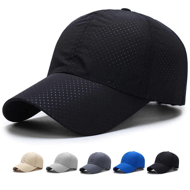 Men Women Quick Dry Summer Snapback  Mesh Cap Sun Hat Bone Breathable Hats Outdoor Climbing Traveling Caps