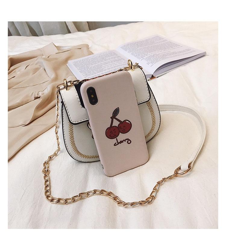 Imitation Designer Bags Fashion Bee Shoulder handbag for women Luxury Round PU Cross body Chain Bag Pearl Metal Lock Women's Bag (8)