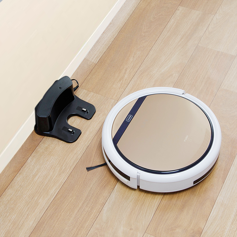Gold Color Self Charging Cyclone Robot Vacuum Cleaner
