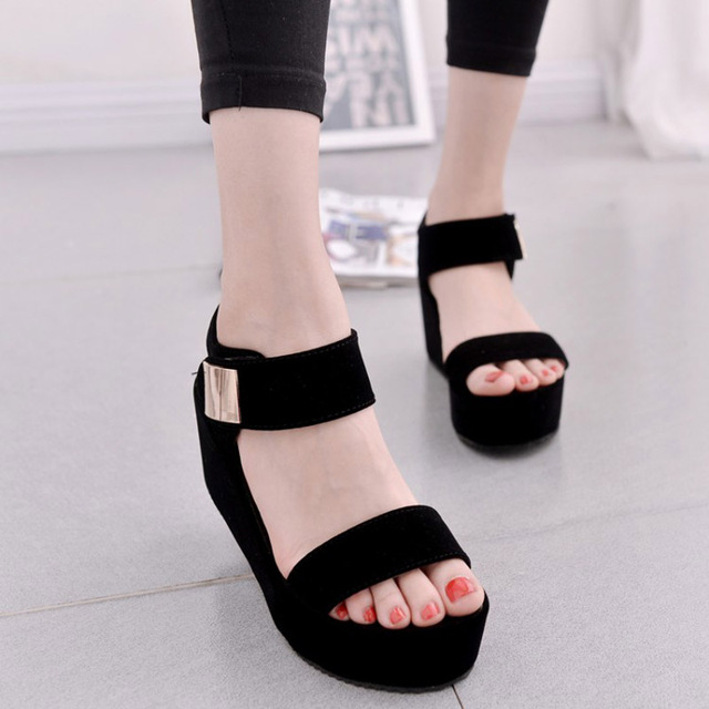 2017 novas mulheres sapatos de plataforma cunhas sandálias das mulheres sandálias da moda verão mulheres sapatos casuais frete grátis
