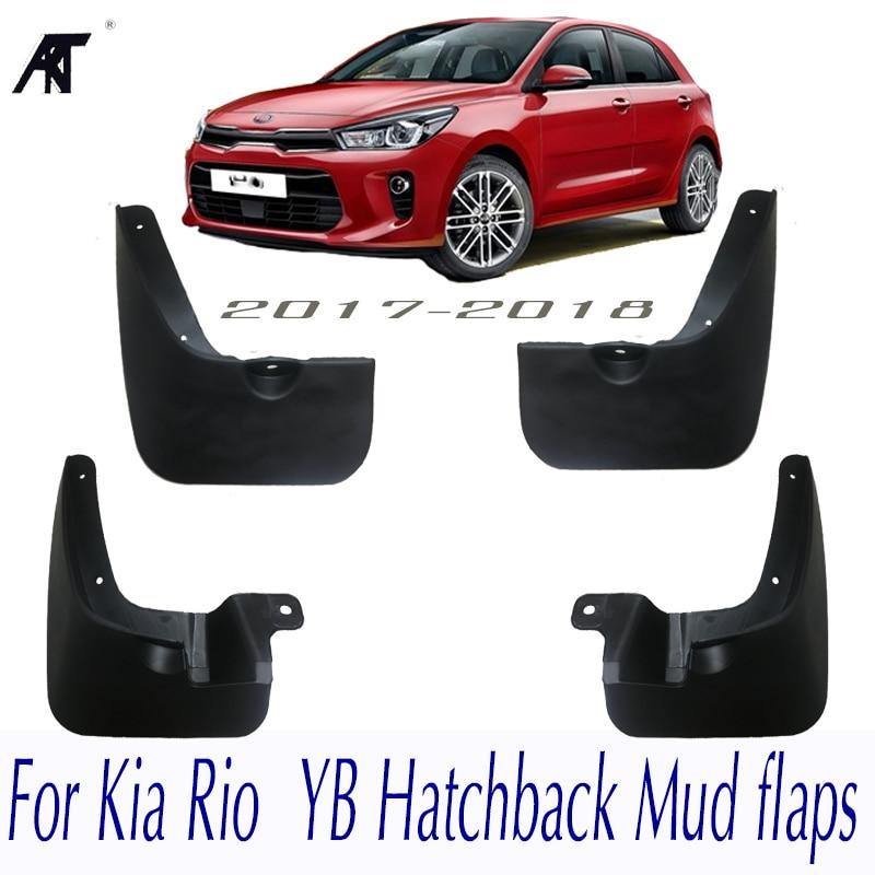 2019 Kia Rio Hatchback: Car Mud Flaps For Kia Rio 2017 2018 YB Hatchback Mudflaps