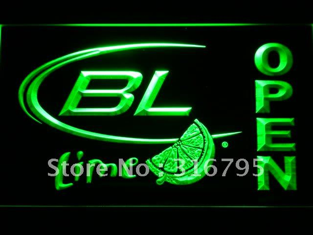 073 Bud <font><b>Light</b></font> Lime OPEN Beer Bar LED Neon Sign with On/Off Switch 20+ Colors 5 Sizes to choose