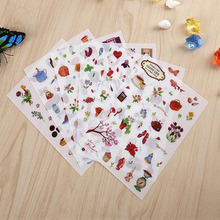 6 Pcs / Pack Happy Life Diary Decorative Stickers Transparent Pet New Phone Stickers Diary Stickers Scrapbook-paper