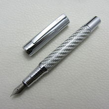 Fountain Pen Silver Carbon Fiber